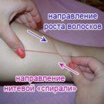 Процедура удаления волос нитью