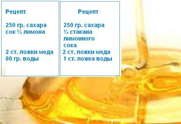 сахарная паста для шугаринга рецепт