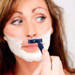 Сбривание волос на лице