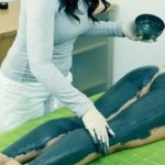Обесцвечивание волос на ногах голубой глиной